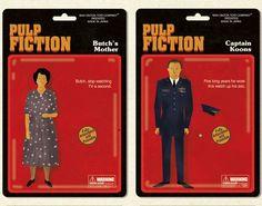 Pulp Fiction by Maxim Dalton Death Proof, Pulp Fiction Art, Illustration Artists, Illustrations, Custom Action Figures, Geek Art, Brain Teasers, Pop Culture, Art Projects