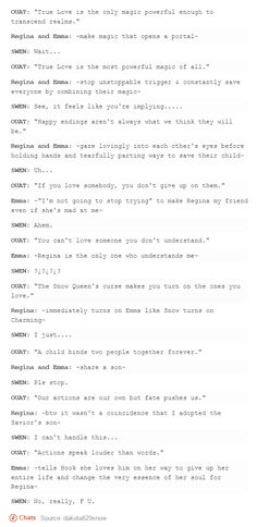 OUaT and Swen.  Swan Queen lol.  Regina Mills and Emma Swan