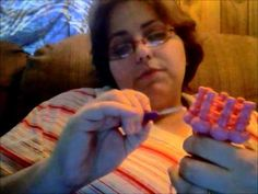 """Basic Loom knitting Stitches: E-wrap, Purl, Knit, """"Tight"""" (1 over 2)), Chunky (3…"""