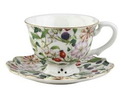 Berry Chintz Cup and Saucer