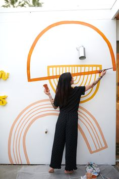 artsy Wandbilder - Ashley Mary Choosing The Right Air Conditioner For Your Home Article Body: During Art Mural, Mural Painting, Ink Painting, Room Wall Painting, Tile Murals, Paintings, Room Decor, Wall Decor, Ideias Diy