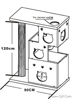 images about diy cat tree house on Pinterest Cat