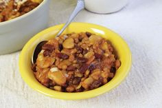 Pineapple Baked Beans made with three types of beans are a little sweeter.