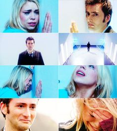 The Doctor and Rose Tyler | this episode. Seriously. I crieeeeddd. Even seeing these images now, I'm about two seconds from crying again.