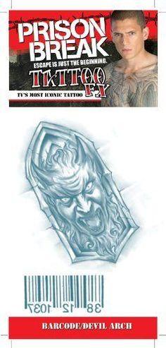 Prison Break Barcode Devilarch Tattoos C4L. $2.95 Toys amp; Games | tattoos picture prison break tattoo