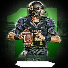 #Baylor quarterback Bryce Petty -- photo edit by ClearEdits on Twitter