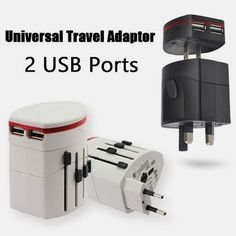 Charge all your #devices with the All-in-1 Universal #Travel #Adaptor  with 2-Port #USB ₱545.00