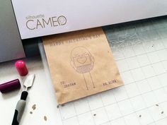 Sketch Pen Vday Treat Bags - Silhouette CAMEO project