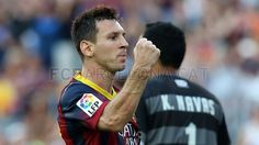 Discover the Barça's latest news, photos, videos and statistics for this match for the La Liga match between FC Barcelona - Levante, on the Sun 18 Aug BST. Fc Barcelona, Barcelona Website, Best Football Players, Good Soccer Players, Lionel Messi, Messi 10, Leo, Free Kick, One Team