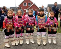In Greenland we wear our national costume on all ocations - this is the first day of school