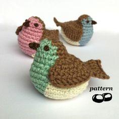 Crochet Bird Pattern by Little Conkers