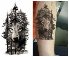 25 design Waterproof Temporary Tattoo Sticker color forest wolf Water Transfer Fake - Pricearchive.org