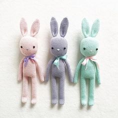 Wynne the Bunny is a darling little amigurumi featuring custom Liberty designed clothing Knitted Bunnies, Knitted Dolls, Crochet Dolls, Crochet Stitches Patterns, Amigurumi Patterns, Amigurumi Doll, Crochet Fairy, Crochet Rabbit, Color Menta