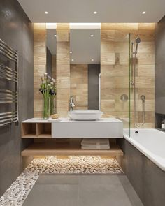 Luxury Bathroom Master Baths Walk In Shower is enormously important for your home. Whether you choose the Luxury Bathroom Master Baths Towel Storage or Luxury Master Bathroom Ideas, you will create th Bathroom Goals, Bathroom Spa, Bathroom Toilets, Bathroom Ideas, Beige Bathroom, Bathroom Plants, Bathroom Designs, Bathroom Remodeling, Remodeling Ideas