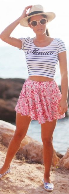 Pink Multi Floral Culotte Shorts