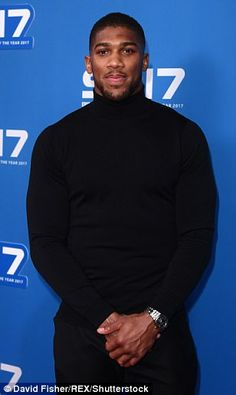 Golden boy: Anthony Joshua, who is favourite to win the big prize looked ready for action as he arrived at the awards in an all-black ensemble Antony Joshua, Boxing Anthony Joshua, Joshua King, Boxing Images, Cute Black Guys, Sports Personality, African American Men, Fit Men, Man Candy