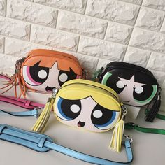 The Power Puff Girls Women Girls PU Leather Sling Bag Fashion Design Shoulderbag The-Power-Puff-Girls-Women-Girls-PU-Leder-Schultertasche-Fashion-Design-Shoulderbag Powerpuff Girls, Cute Fashion, Fashion Bags, Cute Mini Backpacks, Kawaii Bags, Cute Purses, Girls Bags, Chain Shoulder Bag, Cute Bags
