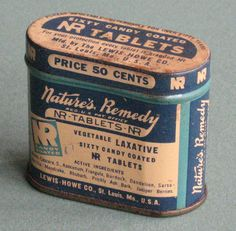 Whackymuseum Tin Container Nature's Remedy Laxative Vintage | eBay