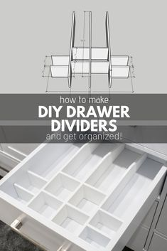 Read the full details on how to make your own DIY Drawer Dividers and keep your bathroom drawer (or any drawer really) perfectly organized and clutter free. These are quick and easy woodworking projects that can really help you stay neat and tidy! Diy Drawer Dividers, Bathroom Drawer Organization, Bathroom Drawers, Drawer Inserts, Diy Bathroom, Diy Drawers, Diy Organization, Diy Organizer, Simple Closet