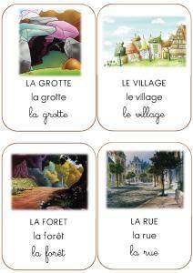 imagiers pdf : actions, adjectifs, personnages, animaux fruits légumes, lieux, prépositions
