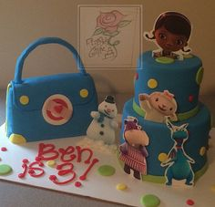 Doc McStuffins cake for a boy! by RozeBud's Cakes, via Flickr Boy Birthday Parties, 3rd Birthday, Birthday Ideas, Doc Mcstuffins Birthday Cake, Kids Gifts, First Birthdays, Pup, Presents, Party Ideas