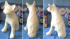Paper Mache Boston Terrier - How to!