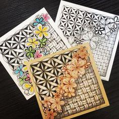 Zentangle Patterns, Zentangles, Zen Doodle, Doodle Art, Zentangle For Beginners, Secret Box, Paper Fans, Zen Art, Black Paper
