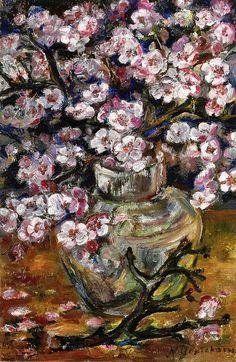 Natalia Goncharova - Cherry Blossoms in a Vase