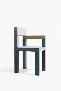 The Untitled (Concrete Chair) was born out of the artistic experiments of  artist Magnus Petersen. A functional sculpture that bridges art and design,  it is an object that re-interprets the use of concrete through a mix of  bold form and explorations into colour and texture.   Design  Magnus Pettersen  Dimensions  H: 850 x W: 450 x D: 450 mm