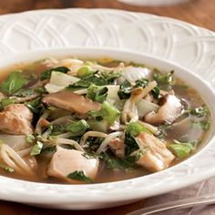Asian-Inspired Chicken Soup @ eatingwell.com