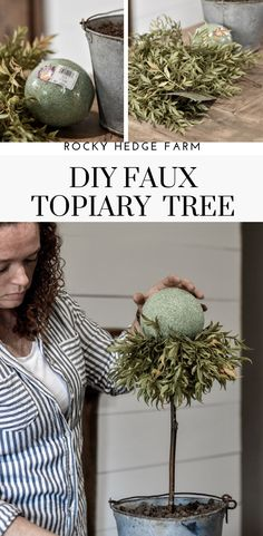 Learn how to make a beautiful and simple DIY faux topiary for your home. Learn how to make a beautiful and simple DIY faux topiary for your home. Home Improvement Loans, Home Improvement Projects, Farmhouse Style Kitchen, Farmhouse Decor, Spring Home Decor, Diy Home Decor, Topiary Trees, Topiaries, Topiary Decor