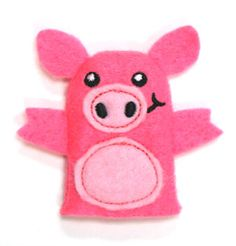 Pig Finger Puppet (In-the-Hoop)