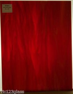 Stained Glass Supplies-spectrum Red & White Wispy Stained Glass Sheet-sp359-1