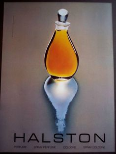 1981 Halston Perfume original vintage fragrance ad My second boyfriend in high school gave this to me at Christmas. I never really liked the scent. Perfume Ad, Best Perfume, Vintage Perfume, Perfume Oils, Perfume Bottles, Perfume Fragrance, Patti Hansen, Lauren Hutton, Fragrance
