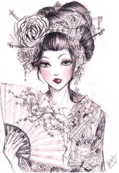 geisha 2 by kastile traditional