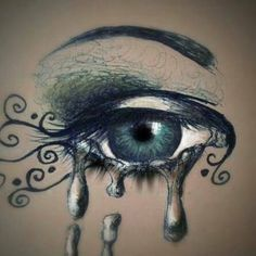 drawings of colored crying eyes - Google Search