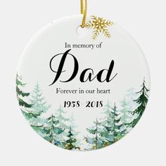In Memory of Dad Ornament Christmas Gifts - tap/click to personalize and buy #in #memory #of #dad, #christmast