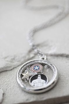 Marvel Captain America Charm Shaker Necklace I need it - visit to grab an unforgettable cool 3D Super Hero T-Shirt!