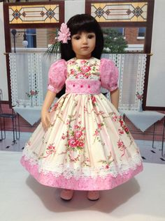 """Maru and Friends """"Totally Sweet in Pink"""""""" dress, petticoat, hair bow, and optional darling pink shoes"""