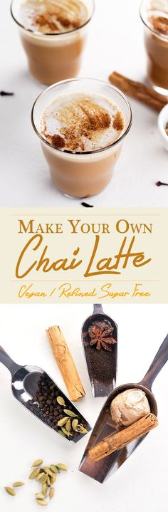 Homemade Chai Syrup made with freshly ground Ginger, Cardamom, Black Pepper, Cloves, Star Anise and Cane Sugar. Topped off with creamy Almond Milk for the perfect Chai Tea Latte.