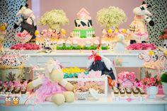 Festa fazendinha rosa: especial para meninas! Pink Farm Party: special for girls!