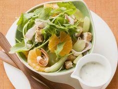 Rucola-Mandarinen-Salat ist ein Rezept mit frischen Zutaten aus der Kategorie Pute. Probieren Sie dieses und weitere Rezepte von EAT SMARTER!