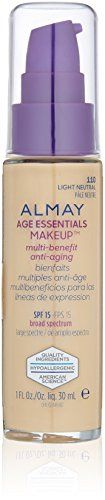 Almay Age Essentials AntiAging SPF Foundation Light Neutral 1 Fluid Ounce * Click image to review more details.