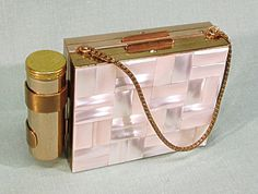 1950's Carryall Dance Purse Compact Minaudiere Mother by COBAYLEY, $48.00