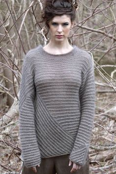 Billie Directional Pullover in LUNA and STELLA - why does this model look demon possessed in such a lovely sweater...?