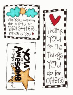 Thank you printables for remembering those who serve around you.  Can attach to side of baby wipes plastic box, fill with goodies, and tie up with twine, or just use as tag and attach to cute bag.