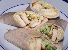 Chicken and hummus wraps add red bell peppers and cucumbers to give it some crunch