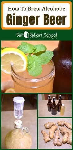 How to brew an alcoholic ginger beer at home - we show you the easy way and talk about some advanced tips as well. #beselfreliant via @sreliantschool