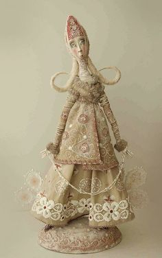 art doll, fibert art, textiles