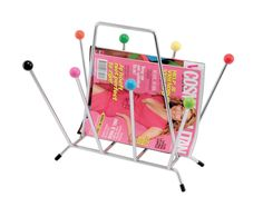 Present Time PT Magazine Rack Saturnus Multi Colour Balls Designed By Walter Wuis Range Magazine, Magazine Storage, Magazine Racks, Ideas Magazine, Modern Store, Chrome Colour, Rack Design, Red Candy, Practical Gifts